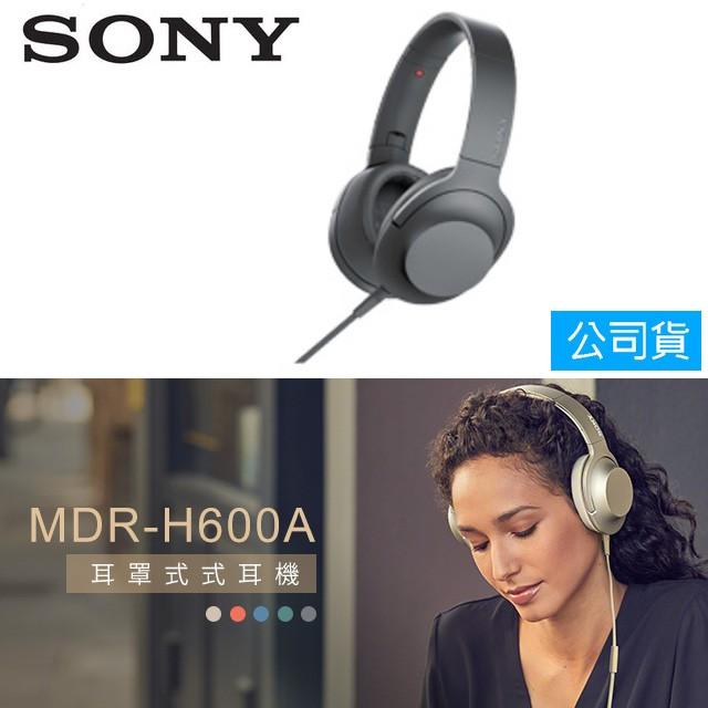 SONY索尼  Hi-Res 耳罩式耳機 MDR-H600A (公司貨) 灰調黑