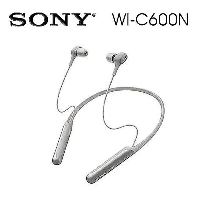 SONY索尼 磁吸式 藍牙無線 降噪入耳式耳機 續航力6.5 HR(WI-C600N) 灰色