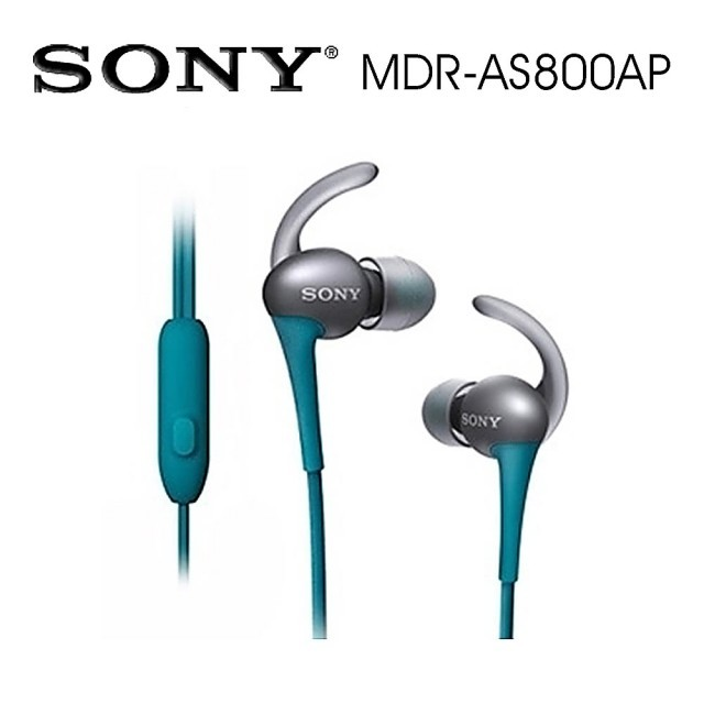 SONY索尼 防水運動型 線控通話(MDR-AS800AP) 藍色