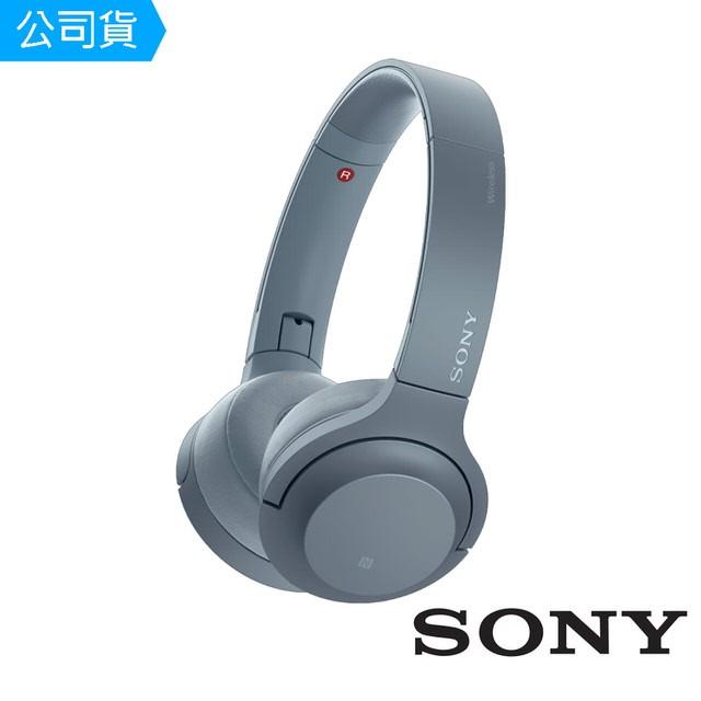 SONY索尼  無線藍牙耳罩式耳機 WH-H800 (公司貨) 月光藍