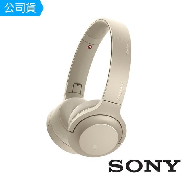 SONY索尼  無線藍牙耳罩式耳機 WH-H800 (公司貨) 粉白金