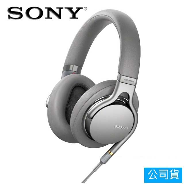 SONY索尼 高音質耳罩式耳機_銀色(MDR-1AM2)公司貨
