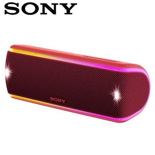 SONY索尼 超低音可攜式防水藍牙喇叭_公司貨 (SRS-XB31) 紅色