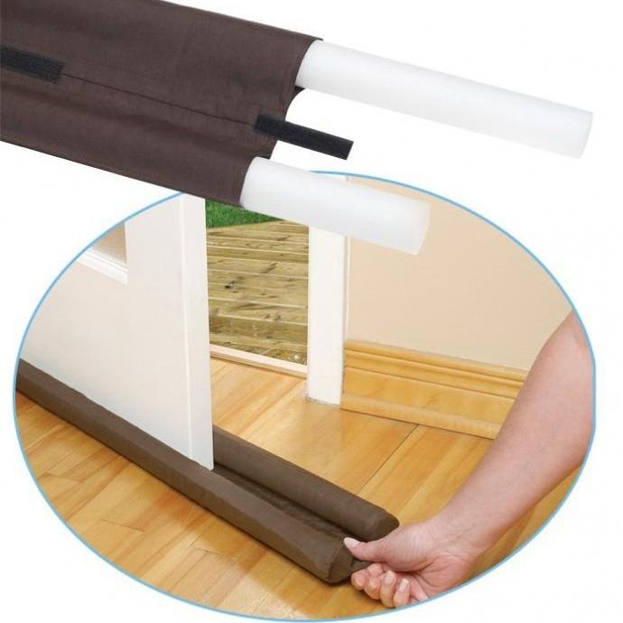 門擋隔離器 隔絕灰塵、隔絕噪音、避免冷氣外洩、防止蟲蟲入侵 (咖啡色)