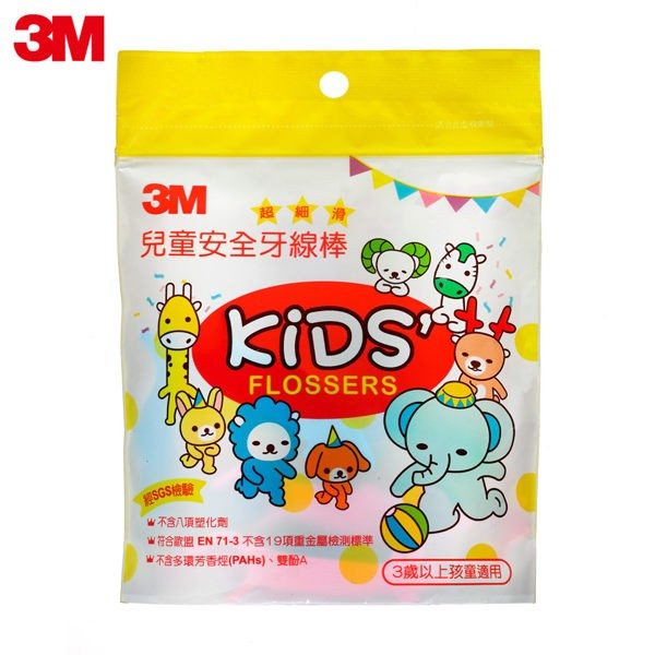 3M 超細滑兒童安全牙線棒(袋裝) x12