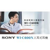 SONY 索尼 WI-C600N 無線降噪頸掛入耳式耳機(公司貨) 藍色