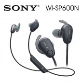 SONY索尼  無線藍牙降噪運動防水繞頸式耳機 續航力6HR(WI-SP600N)黑色