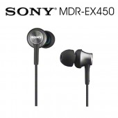 SONY索尼 耳道式耳機 金屬時尚(MDR-EX450) 灰色