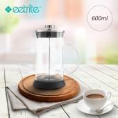Eetrite伊萃特 法式玻璃濾壓壺-銀(600ml) EE-5181281