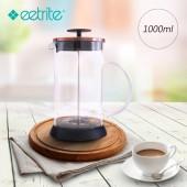 Eetrite伊萃特 法式玻璃濾壓壺-古銅金(1000ml) EE-5181681