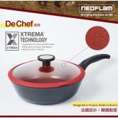 韓國NEOFLAM De Chef系列 28cm陶瓷不沾炒鍋+玻璃蓋 (EK-DC-W28G)黑色 適用電磁爐