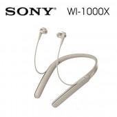 SONY索尼 智慧抗躁藍牙入耳式耳機 無線麥克風(WI-1000X) 金色