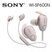 SONY索尼  無線藍牙降噪運動防水繞頸式耳機 續航力6HR(WI-SP600N)粉色