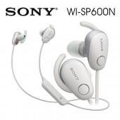 SONY索尼  無線藍牙降噪運動防水繞頸式耳機 續航力6HR(WI-SP600N)白色
