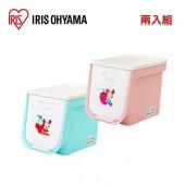 日本 IRIS Ohyama 迪士尼系列上掀式收納箱 (超值二入組) FLP-S