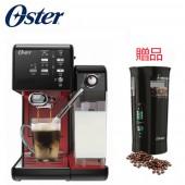 美國OSTER 頂級義式膠囊兩用咖啡機 (搖滾黑紅)