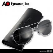 【USA美國】原廠公司貨 AO軍規飛官太陽眼鏡霧銀框(55mm) OP55M.BA.TC